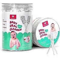 48PCS Baby Toothbrush, Newborn Baby Tongue Cleaner Toothbrush Clean Baby Gums Disposable Tongue Cleaner Soft Gauze…