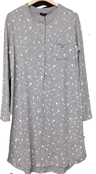 BISBIGLI Camicia da Notte Caldo Cotone