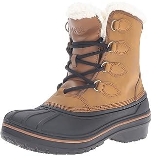 AllCast Waterproof Duck Boot Women, Femme Bottes, Bleu (Nightfall/Coral), 34-35 EUCrocs