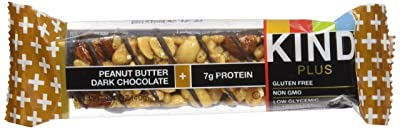 KIND Bars, Peanut Butter Dark Chocolate + Protein, Gluten Free