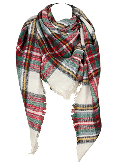 Cozy Checked Plaid Blanket Scarf Soul Young Tartan Stylish Cape Wrap Shawl for Women and Men