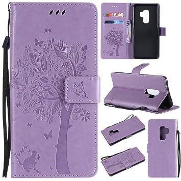 CMID Funda Samsung Galaxy S9 Plus, PU Cuero Libro Billetera Tapa Antigolpes Protective Cartera Carcasa Case para Samsung Galaxy S9 Plus 6.2