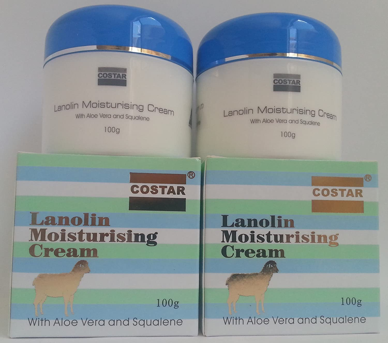 2xCostar Lanolin Moisturising Cream With Aloe Vera & Squalene100g Made in Australia