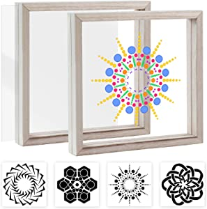 Pajaver Stained Glass Painting Window Art DIY Kit for Kids, Creative Craft Suncatcher Kit with Frame Made Easy Art Educational Toy Gifts for Teens Adults for Home Office Cafe Decor