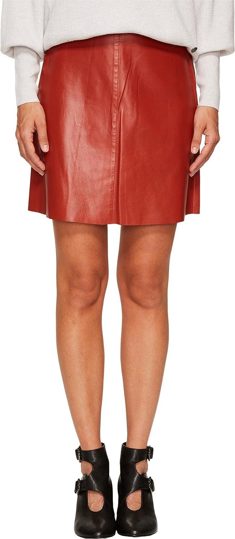 8d52ff0c76 Sonia Rykiel Women's Thin Lamb Leather Skirt Terracotta 40 at Amazon  Women's Clothing store: