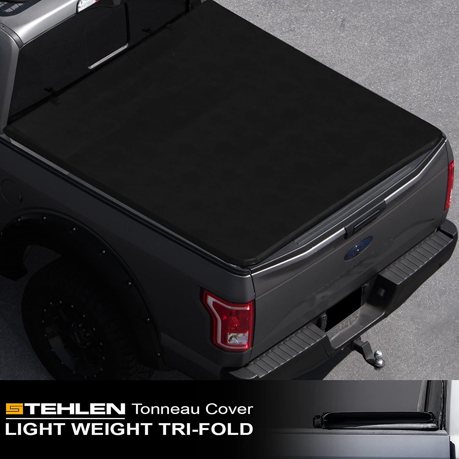 """Fits 2015-2019 Ford F150 Lock Hard Solid Tri-Fold Tonneau Cover 8ft Bed 96/"""""""