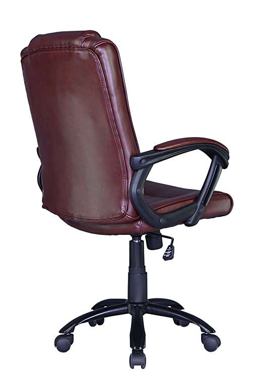 Brown Ergonomic Leather Office Chair Computer