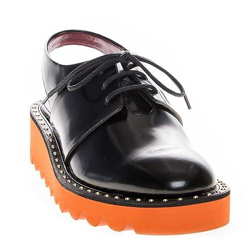 9b755dc4a8c Stella McCartney Women s Odette Rigid Platform Sling Back Shoes Synthetic  Black 40 M EU