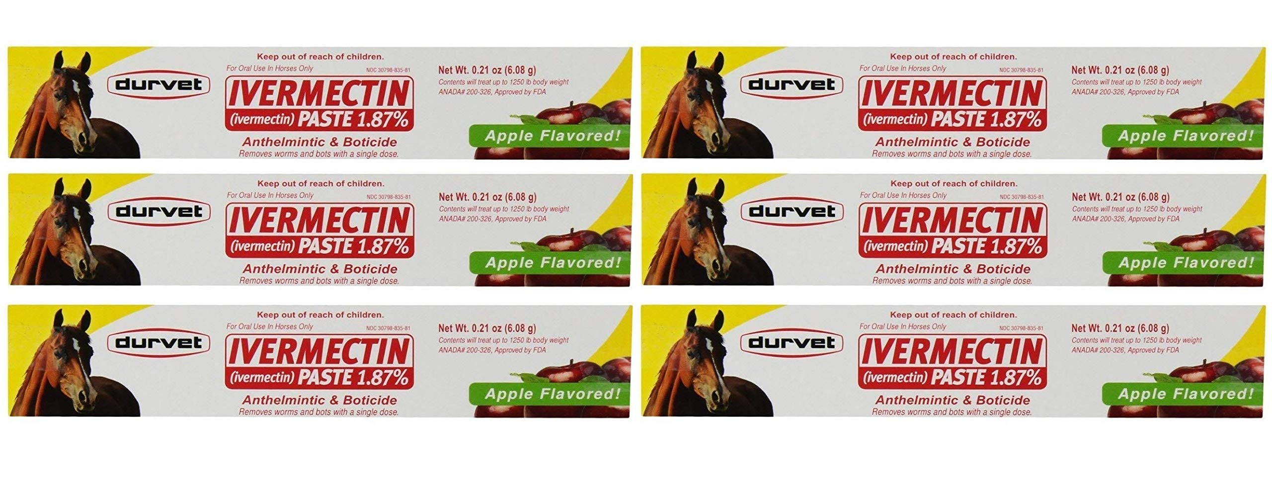 Durvet Ivermectin Dewormer Paste for Horses, 6 Doses, 0.21 oz by Durvet