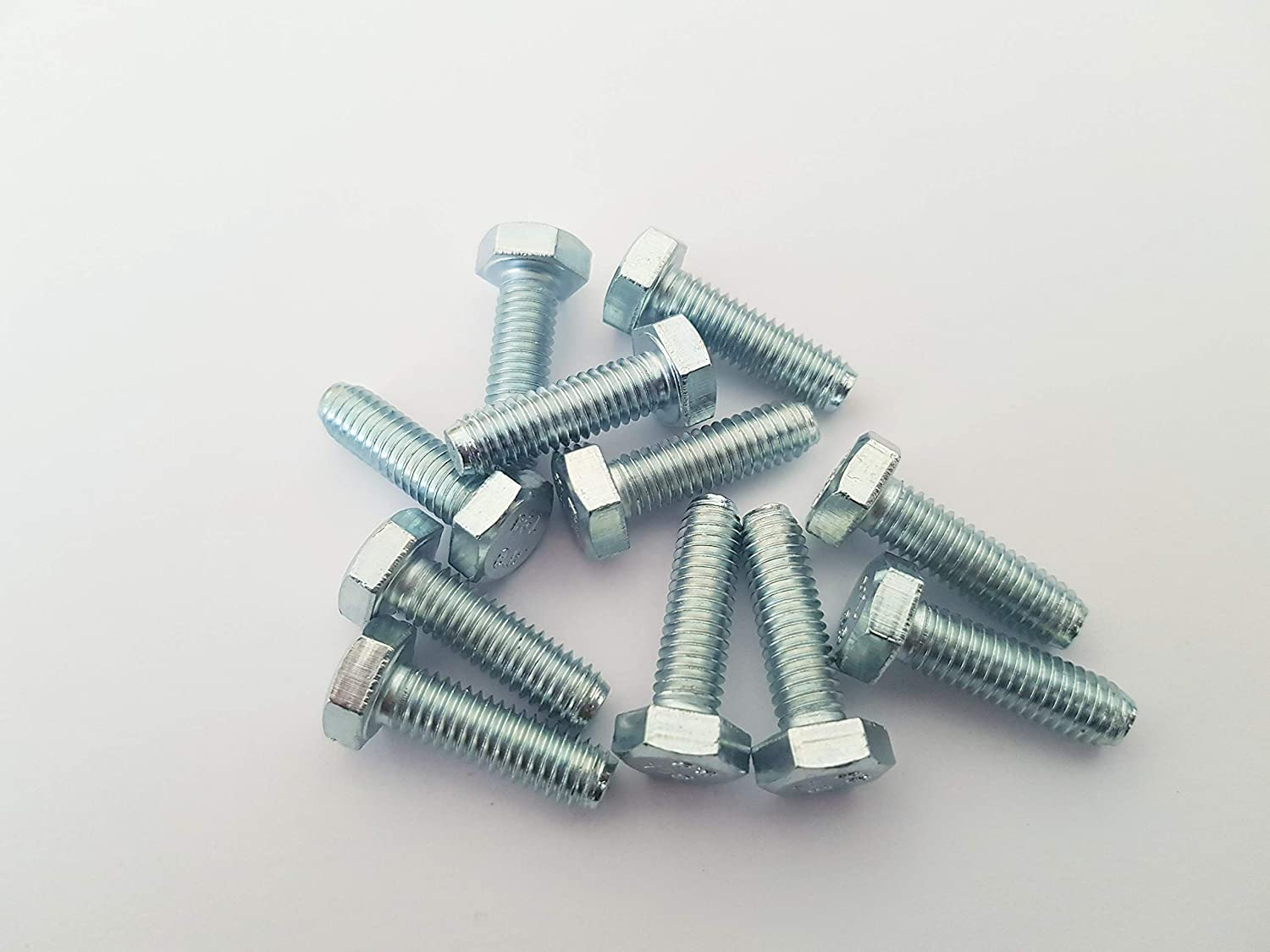 ZINC Plated 5mm x 25mm M5 HEX Bolt Pack of 50 Fully Threaded SETSCREW