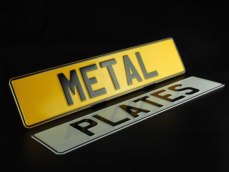 UK Road LEGAL MOT Compliant X2 Metal Pressed Number Plates