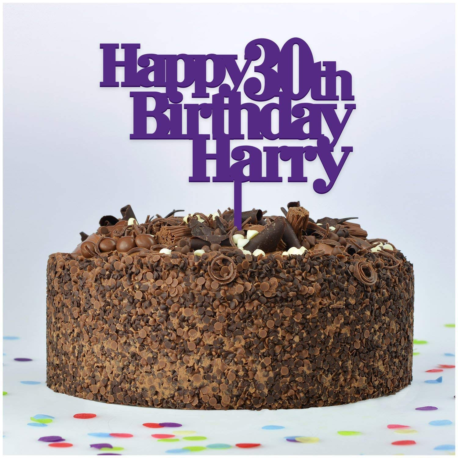 Terrific Happy Birthday Cake Topper Personalised With Any Name And Any Age Funny Birthday Cards Online Bapapcheapnameinfo