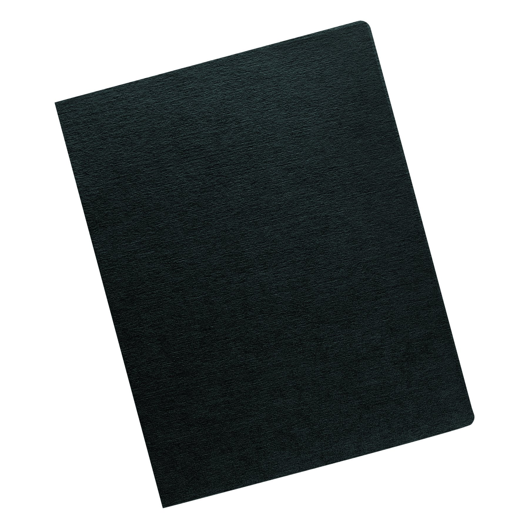 Fellowes 52115 Linen Texture Binding System Covers, 11-1/4 x 8-3/4, Black (Pack of 200) by Fellowes (Image #1)