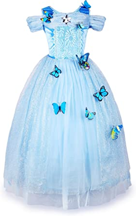 JerrisApparel Flower Girls Dress Princess Party Dress Costume