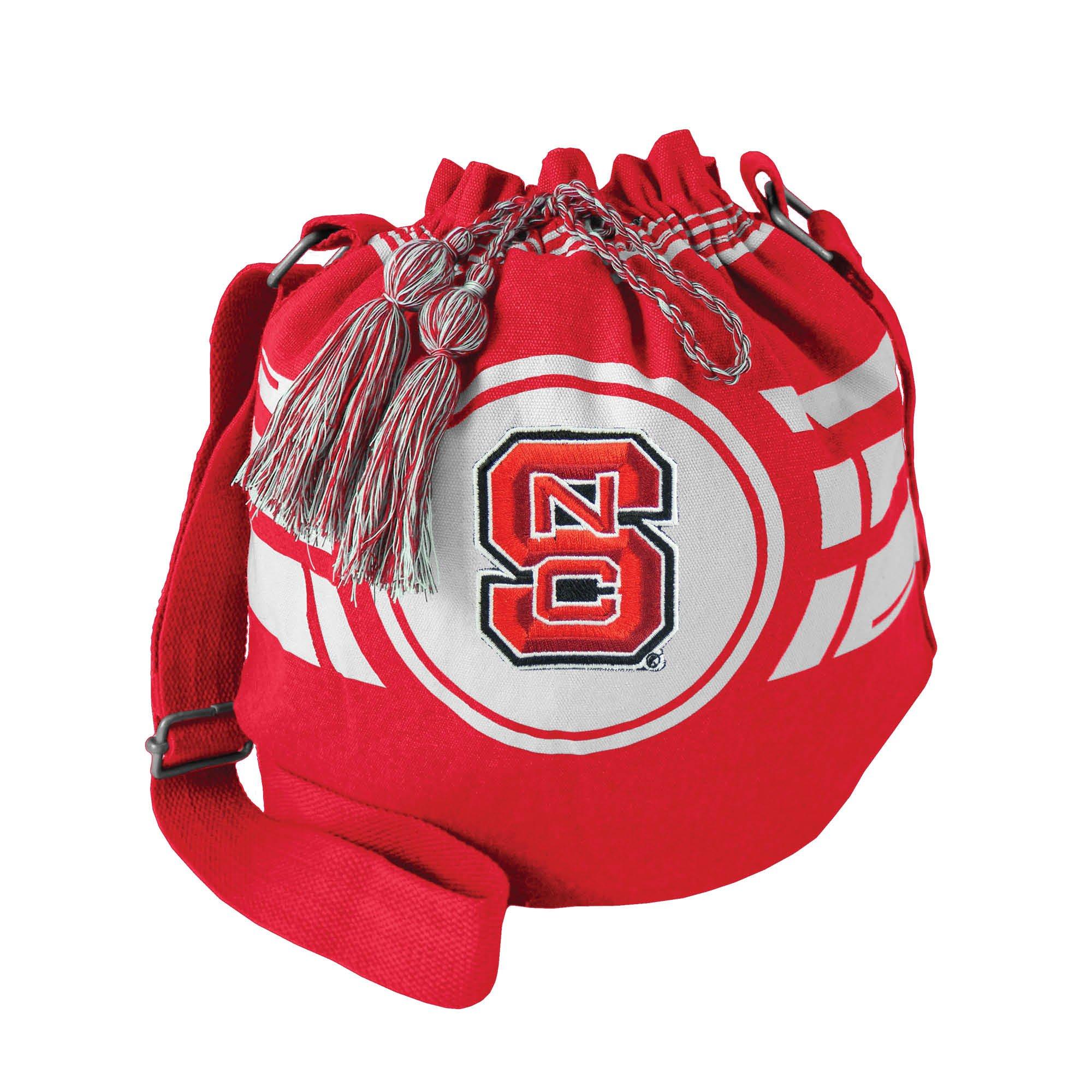 Littlearth NCAA NC State Wolfpack Ripple Drawstring Bucket Bag