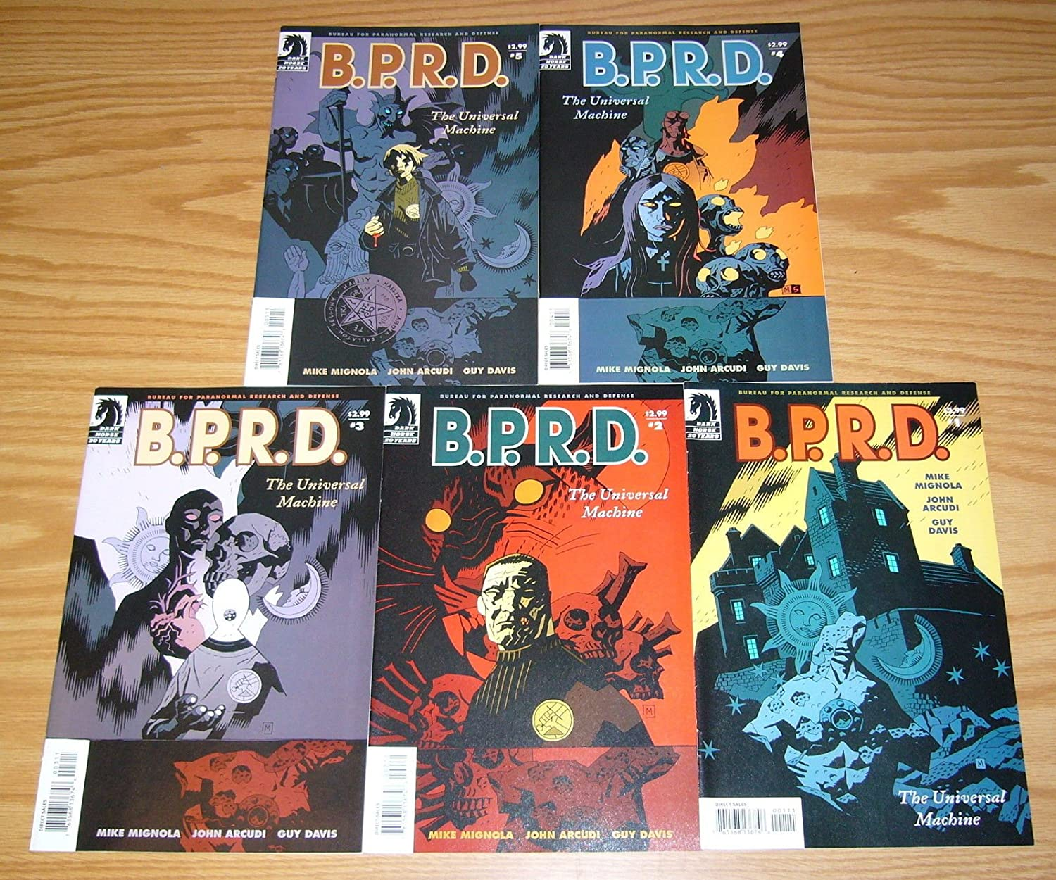 B.P.R.D. The Universal Machine #1-5 VF/NM complete series (BPRD) ; Dark Horse