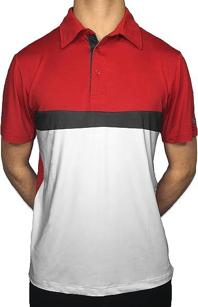 Amazon.com: Royal Golf Mens Crimson Red Imperial Short-Sleeve Polo ...