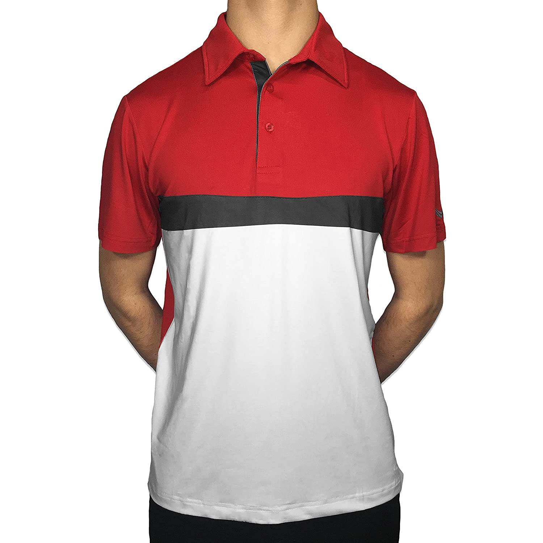 Amazon Royal Golf Mens Crimson Red Imperial Short Sleeve Polo