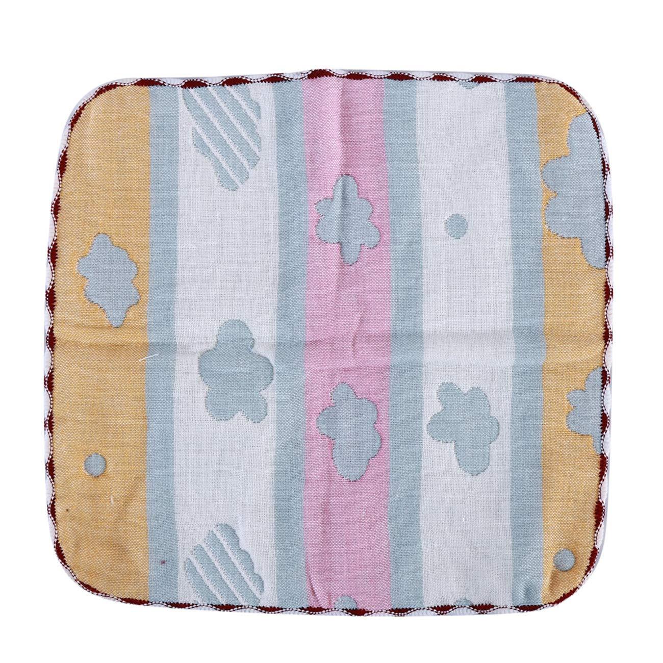 ZALING Six Layers Cotton Baby Towel Infants Comfort Cute Cartoon Kids Soft Face Towel Baby Burp Cloths Cloud Blue