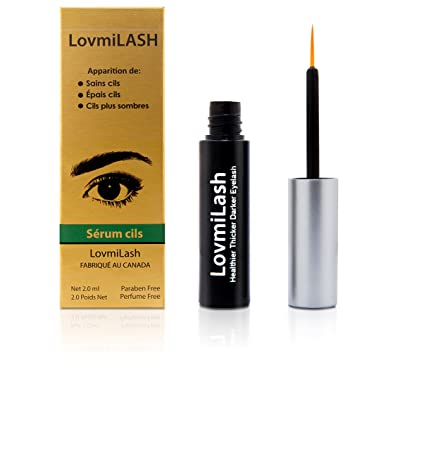 Lovmi Lash Eyelash Growth Enhancer Serum with Hyaluronic Acid, Panthenol, Niacinamide, and other Natural Nutrients for Long, Thick, Healthy Lashes