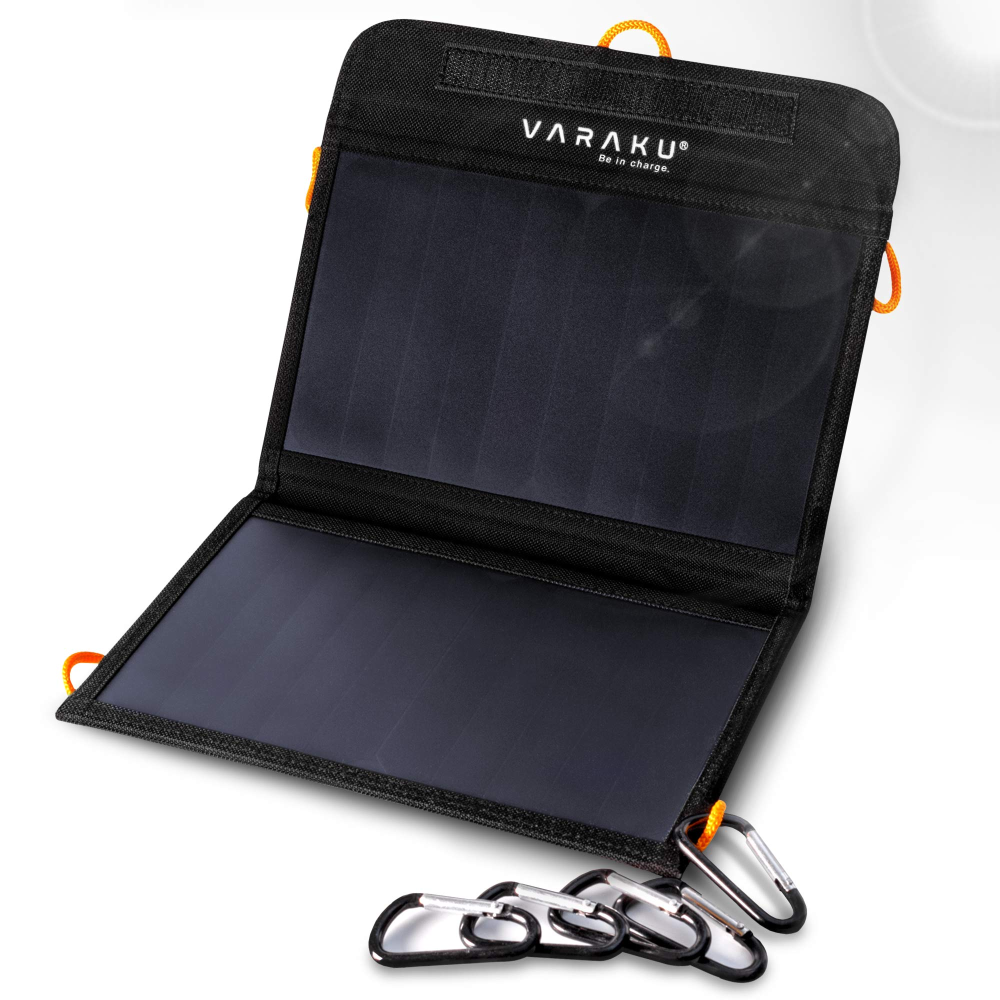 Portable Solar Charger 10W - Dual USB Solar Panel Foldable - Best Power for, iPhone, X, 8, 7, 6s, iPad, Cell Phone Android & Electronic Devices - Waterproof Sun Phone Charger for Camping & Hiking by VARAKU