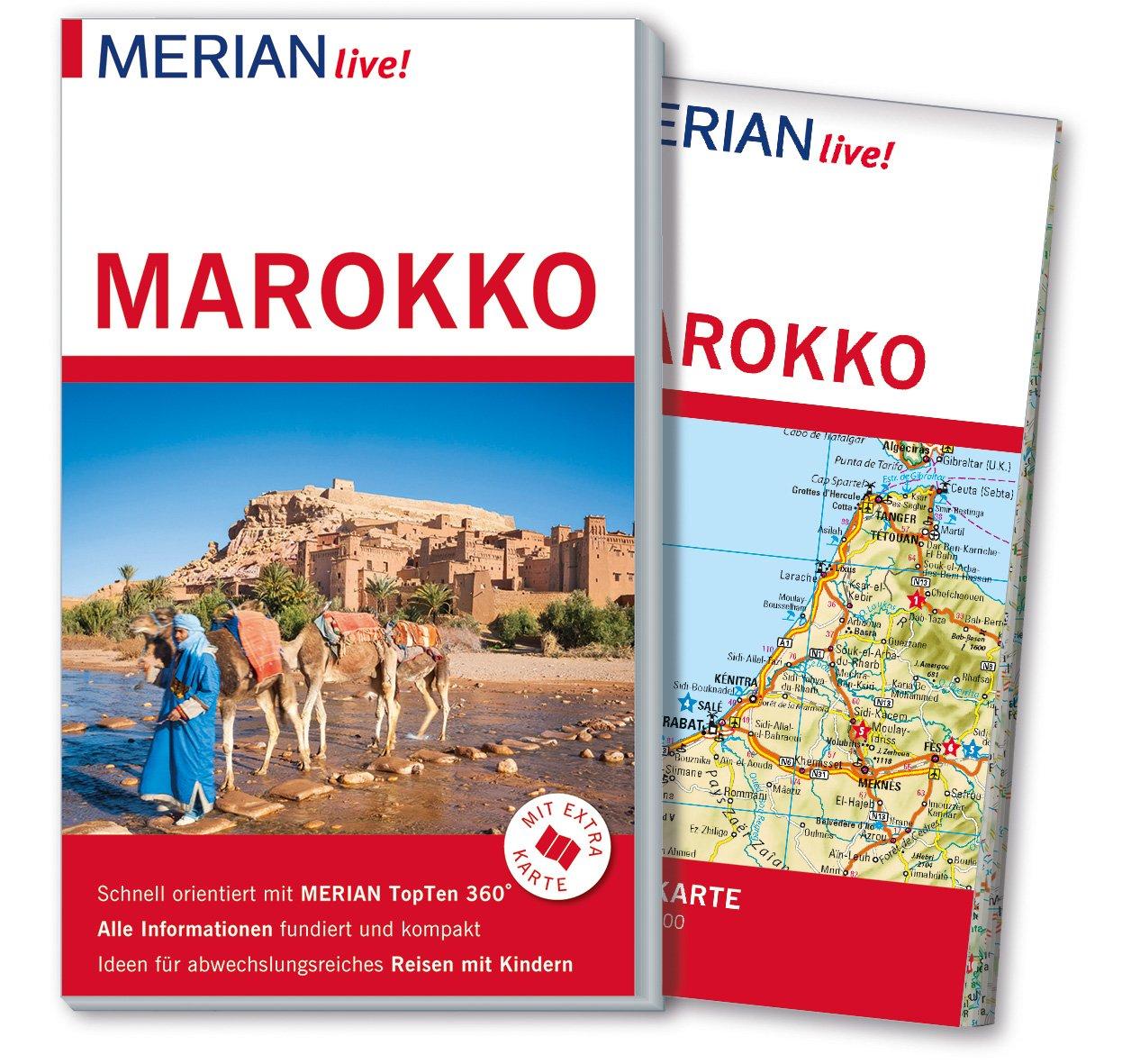 MERIAN live! Reiseführer Marokko: Mit Extra-Karte zum Herausnehmen