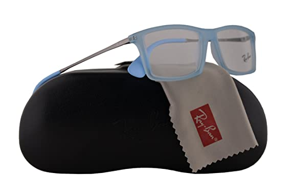4784bacf445 Ray Ban RX7021 Matthew Eyeglasses 52-14-140 Transparent Blue w Demo Clear  Lens 5370 RB7021 RB 7021 RX 7021  Amazon.co.uk  Clothing