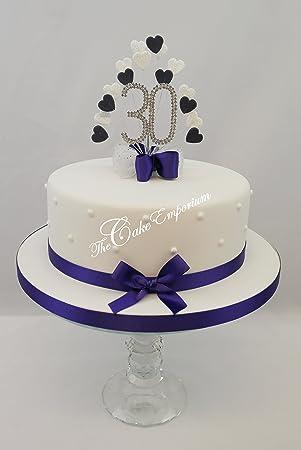 Fantastic Cake Topper Heart Burst Spray Diamante 30Th Birthday Purple Funny Birthday Cards Online Bapapcheapnameinfo