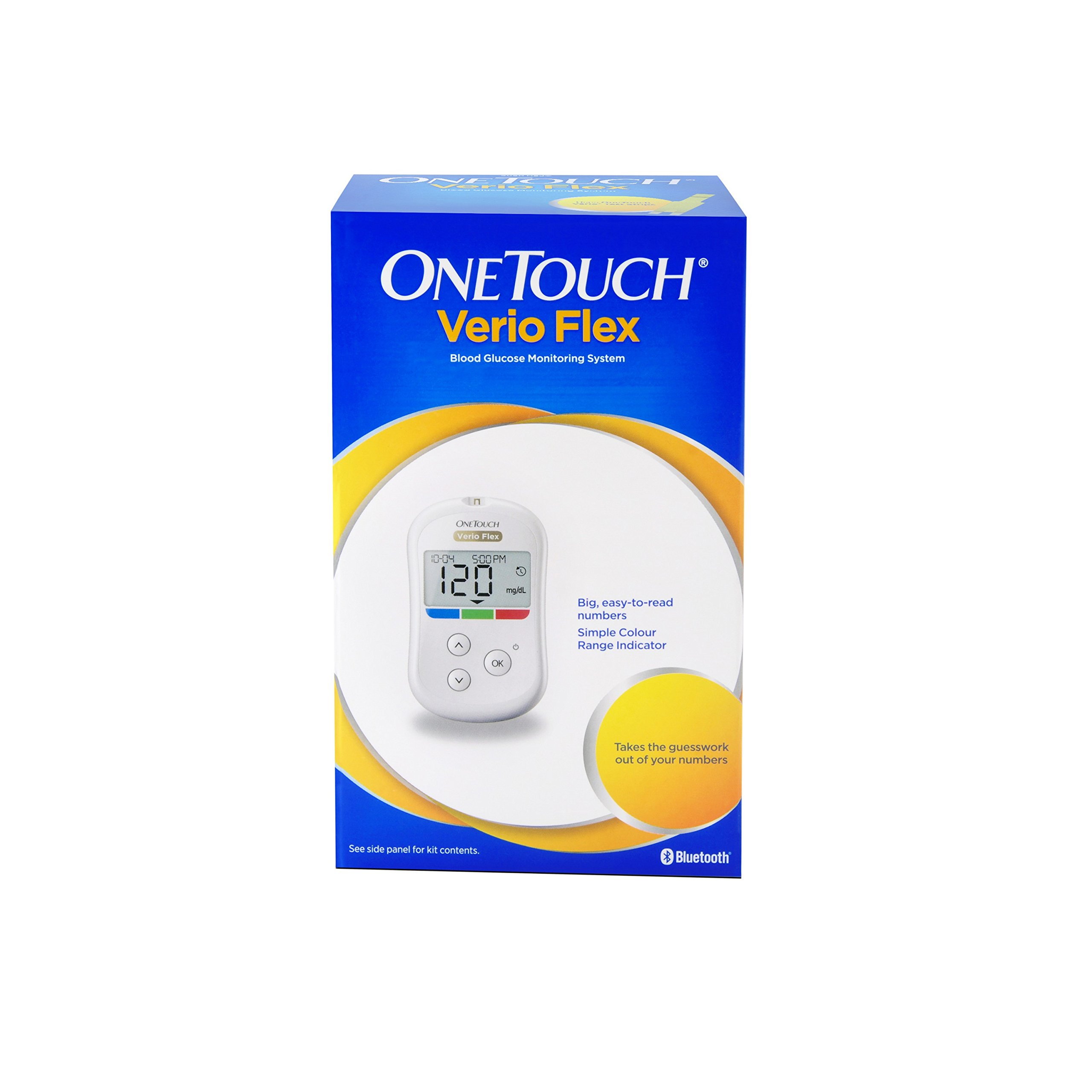 Lifescan OneTouch Verio Flex blood Glucose Monitoring System with 10 strips by OneTouch Verio Flex