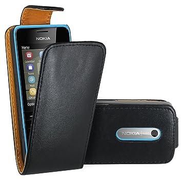hot sales 2614f 25686 Nokia 206 Case, FoneExpert® Premium Leather Flip Wallet Book Case Cover For  Nokia Asha 206 / Nokia 206 / Nokia 206 Dual Sim (Flip Black)