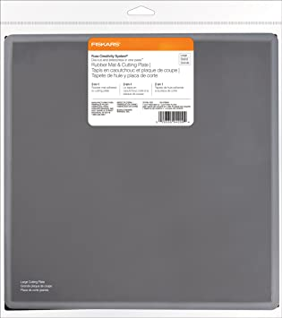 Amazon.com : Fiskars Fuse System Rubber Mat and Cutting Plate, Large ...
