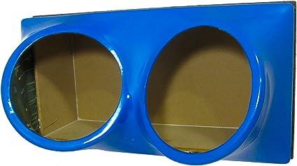 FibroPRO Dual 15 Sealed Subwoofer Speaker Box Enclosure with Fiberglass Face Plate Black
