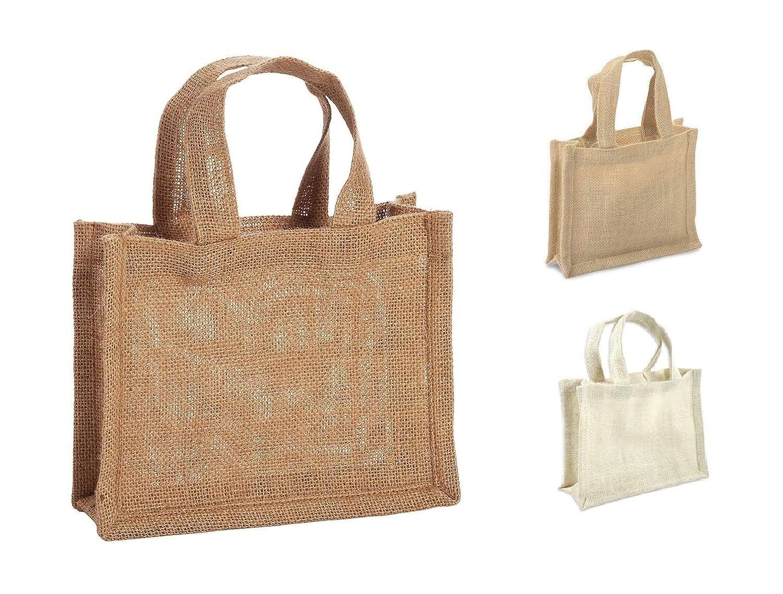小さなサイズ黄麻布ギフトFavor bags-juteギフトトートバッグ、7