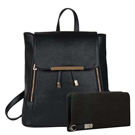 Buy Glory fashion Stylish Girls School bag College Bag Casual Backpack and  clutch combo (Black) (Black) Online at Low Prices in India - Amazon.in 8d2c72ccdbddd