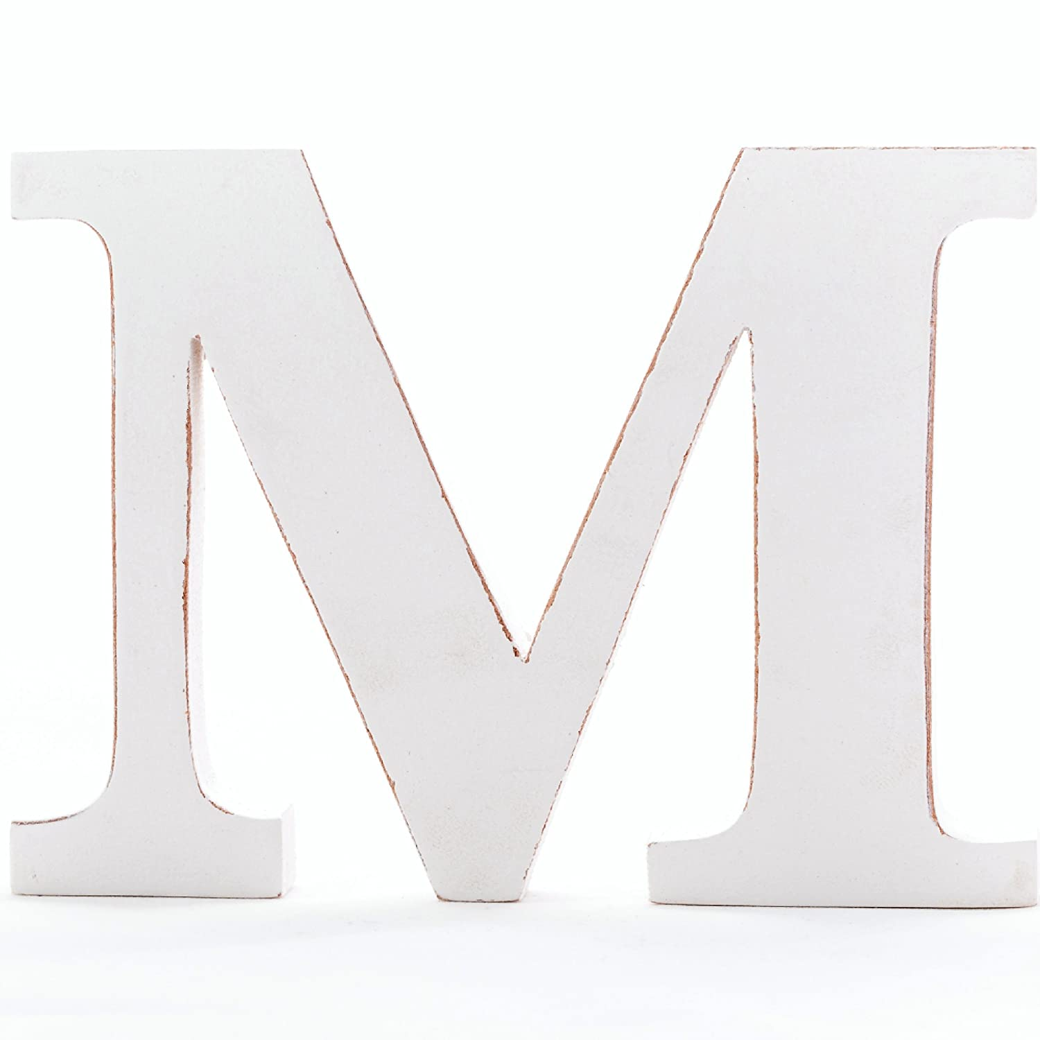 by Letter-O-Holic Shabby Chic Vintage Large 11 cm Wooden Free-standing A to Z Letter S Alphabet Letters