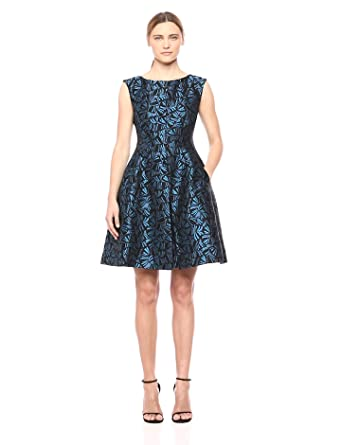 Anne Klein Women S Inverted Pleat Fit And Flare Dress At