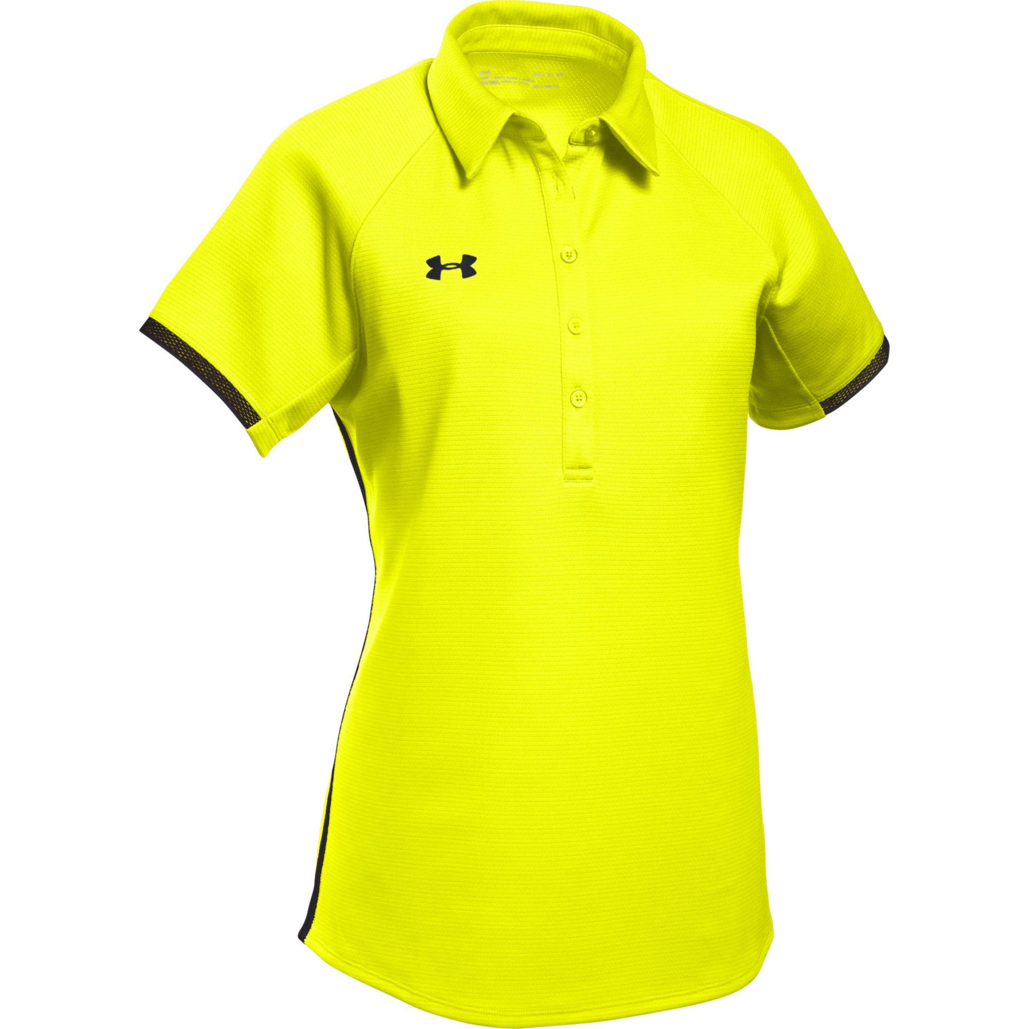 Under Armour Women's UA Rival Polo (X-Large, High-Vis Yellow-Black) by Under Armour