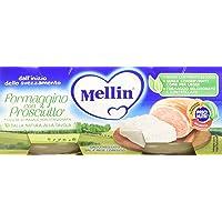 Mellin Omogeneizzato Formaggino con Prosciutto - 24 Vasetti da 80 gr