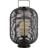 "JONATHAN Y JYL6506A Kandella 26.7"" Outdoor Woven Oval Asian LED Lantern Bohemian,Scandinavian,Modern,Contemporary for…"