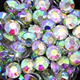 Little Snow Direct® Pack of 1000 Top Quality Resin Crystal Flat Back Rhinestones Diamante Gems Nail Art & Crafts (Crystal AB, 2mm)