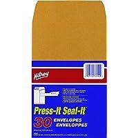Hilroy 76042 Press-It Seal-It Kraft Envelopes, 5-7/8x9-Inch, 30 per Pack