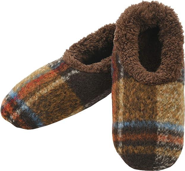 Snoozies Mens Slipper Socks Soft Slippers for Men Medium Mens Two Tone Navy