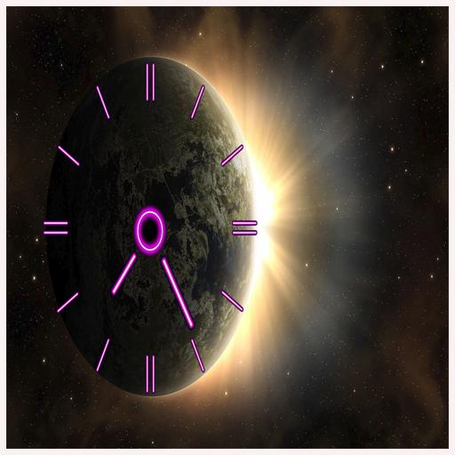 k live wallpaper (Better Neon Clock)