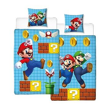 Linon Kinder Wende-Bettwäsche Super Mario Bros Super Mario Maker 135 ...