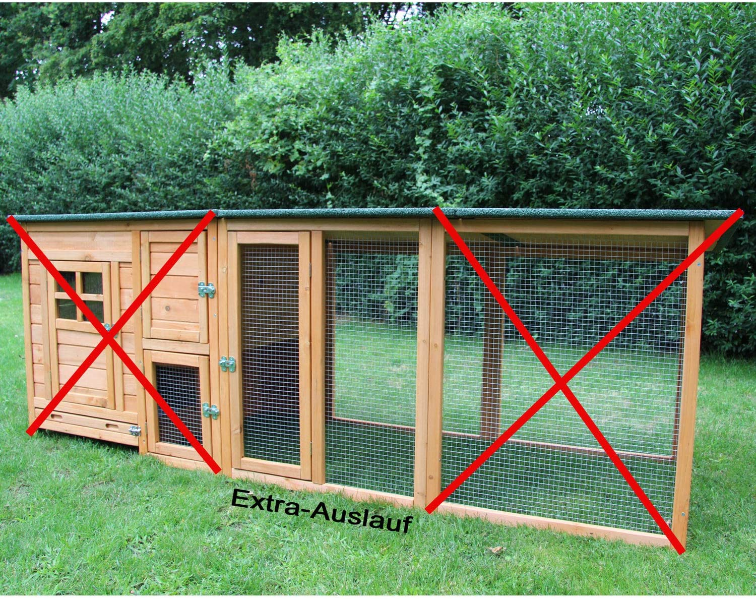 zoo-xxl Paula Chicken Coop Chicken House with Free Run for Outdoor