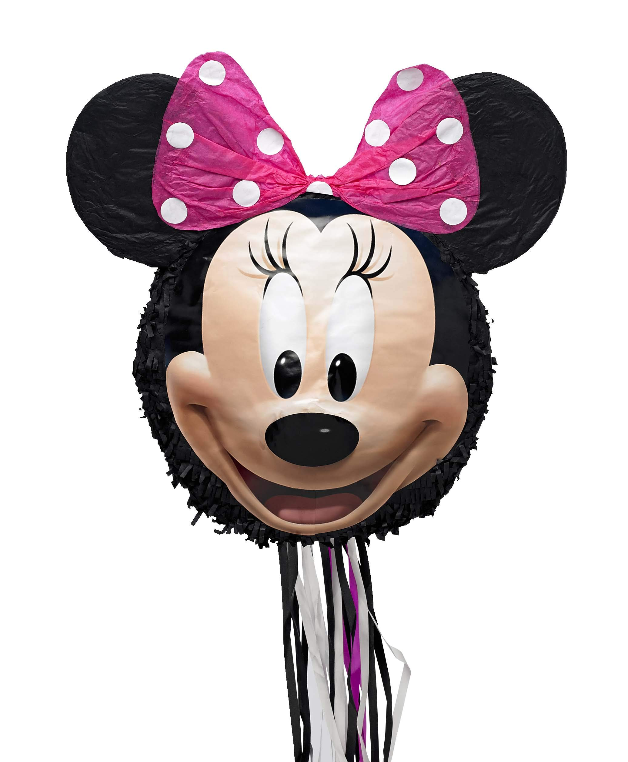 Disney Minnie Mouse 3D Pull-String Pinata, As Shown, One Size