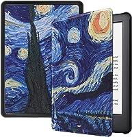 Capa Kindle Paperwhite 10ª geração à prova d'água - Função Liga/Desliga - Fechamento magnético - Van Gogh