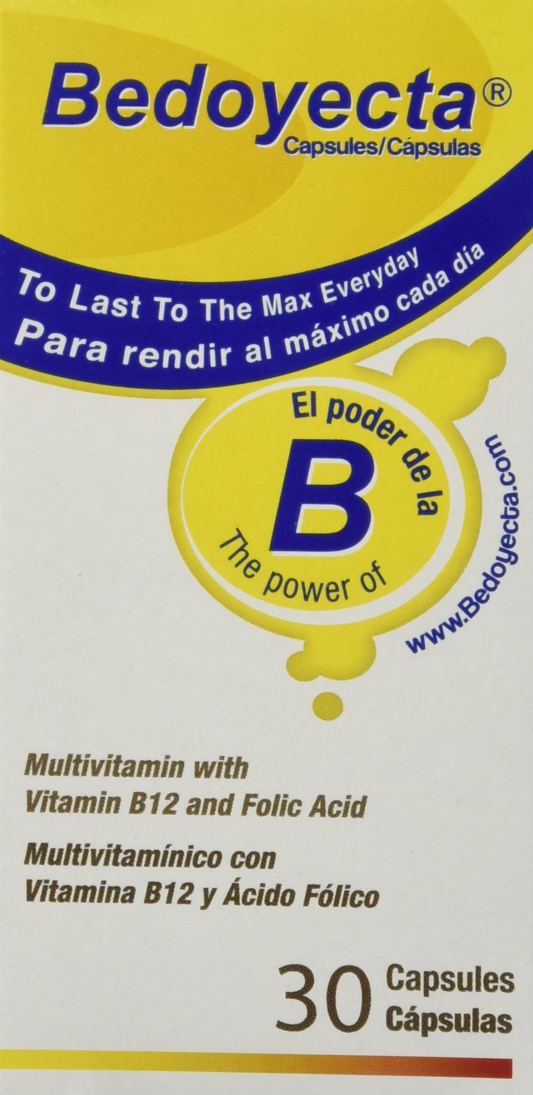 Bedoyecta Multi-Vitamin Capsules, 30 Count