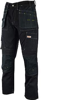 Like Dewalt Wright Wears Men Work Cargo Trouser Black Heavy Duty Multi Pockets /& Knee Pad Pockets