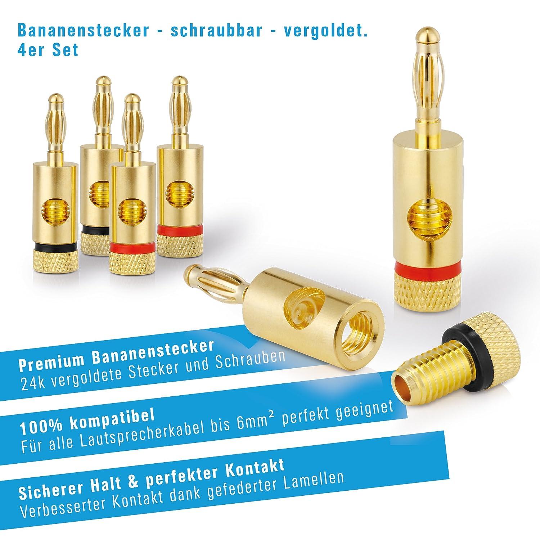 25m 99,9/% OFC Vollkupfer 0,20mm Litze PureLink SP060-025 Lautsprecherkabel 2 x 2,5mm/² transparent Hifi Boxenkabel